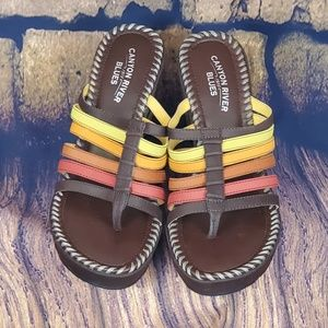 Canyon river blues multi western COLORED SANDALS